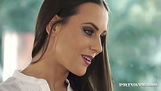 Jaw dropping Czech seductress in sexy lingerie Mea Melone gets sandwiched