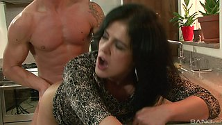 Brunette chick Montse Swinger gets her cunt filled with a fat dick