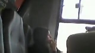 Perverted wanks in bus