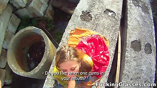 Fucking Glasses - Emma - Fucked on a construction site