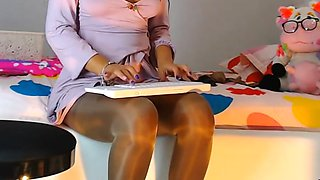 webcam Pantyhose leg mix