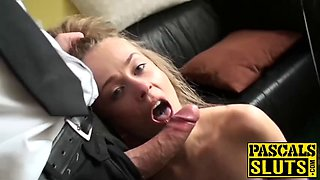 Young sub carmel anderson riding hardcore for jizz in mouth