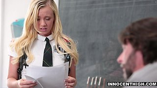 InnocentHigh - Sexy Teen Student Practices CPR on Teacher