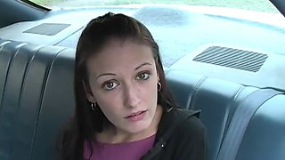 Hailey young in car blowjob