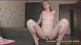 Nerdy Angel Loves Toying All Of her Tight Holes