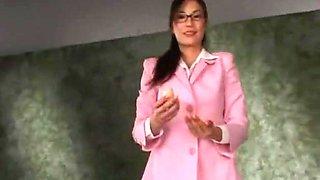 Horny Japanese whore Anri Suzuki in Crazy Secretary, CFNM JAV video