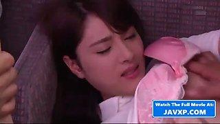 Asian schoolgirl on the public bus, japanese jav
