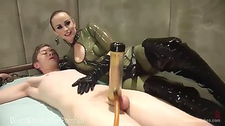 mistress milks slave