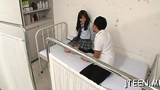 Innocent looking schoolgirl gets dirty and sucks cock