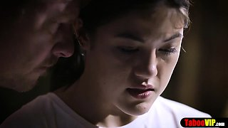 Shy teen stepdaughter lured into taboo fuck by stepdad