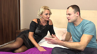 Mature blond getting fucked hard
