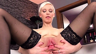 Wacky czech girl gapes her tight pussy to the special13kRA
