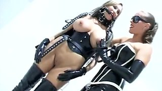Large Boob Serf With Her Latex Mistresses!!!!!!!