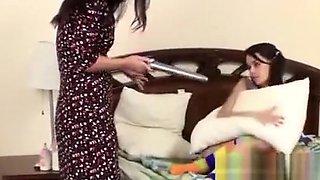 Babysitter fucked by mom