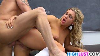 Sexy blonde schoolgirl Cameron Dee