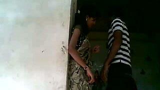 Indian hottie fucks in dress in temple with her boyfriend