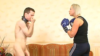 Russian Mistress Mary boxing domination