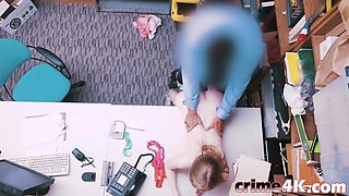 A sexy shoplyfter Dolly Leigh must be punished