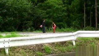 Slutty Likes Teasing By Public Flashing Her Large Naturals