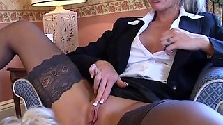Horny pornstars Sarah Lou and Crystal Lei in exotic dildos/toys, mature sex movie