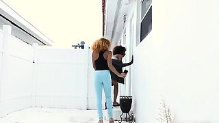 Wife caught cheating with black cock and blonde milf goes