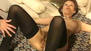 Brunette white German milf joins swinger couple for threesome