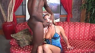 Long black boner makes naughty girl Spring Thomas moan loudly