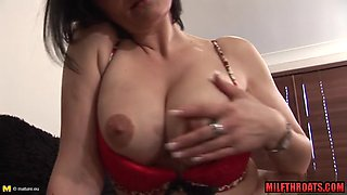 Hot milf anal finger with cumshot
