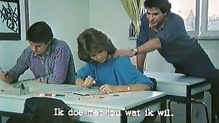 Vintage porn compilation with lustful teacher and three whores