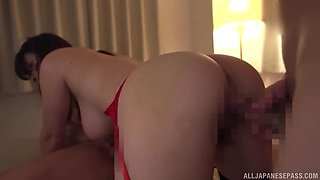 Japanese busty MILF Takarada Monami abused by two guys in public