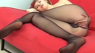 Cute Teen In Pantyhose Poses For Daddy