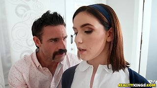 Sexy Maddie Winters pleases a guy by jumping on his stiff dick