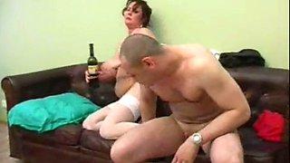 drunk granny olga gets used