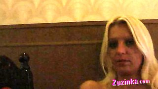 Natural exhibitionist in Chinese Restaurant - video