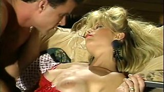 Insatiable classic blondie stuffs cock in her mouth