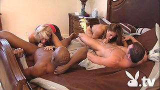 Interracial Foursome In The Bed Room @ Season 1 Ep. 1 0
