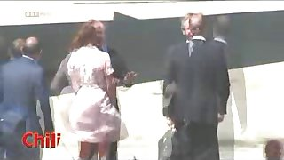 Kate Middleton - Oops New Windy Upskirt No Panties Paparazzi