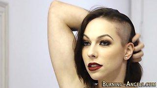 Tattooed emo gets spunked