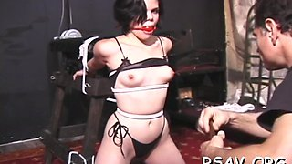 Hottie is being tied up and abused roughly