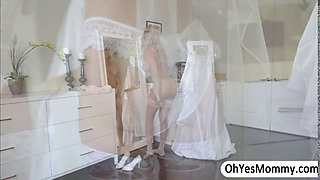 Horny bride Brandi hooks with a hottie guy before her wedding