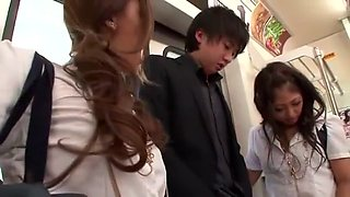 Exotic Japanese slut Rin Aikawa, Aoi Miyama in Hottest Public, Group Sex JAV scene