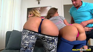 Erotic babes left gasping for breath after a hardcore foursome in a close up shoot