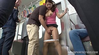 Dominated And Pussy Fingered In A Subway