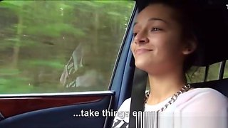 Vanessa Rodriguez nailed inside the car