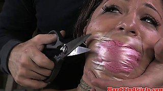 Petite sub tt punished and scissor fun