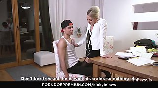 Kinky inlaws stepson gets to please hot czech stepmom