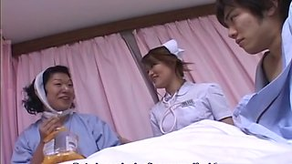 Wild sexy nurse gives hot blowjob