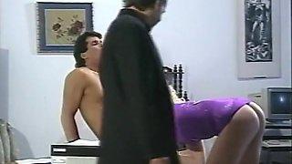 Hottest pornstar Melanie Moore in amazing vintage, blowjob adult video