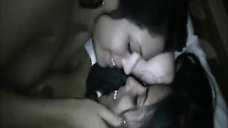 Hot lesbos humping pussies and kissing