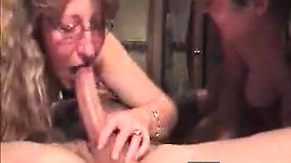 Two Milfy sisters share hubbys dick